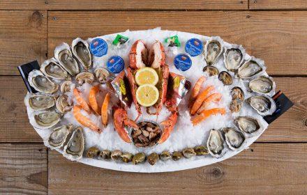crabe fruit de mer huitrs