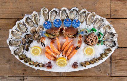 fruit de mer plateau crabe crevette